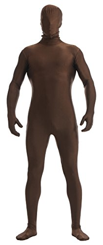 Ensnovo Mens Full Body Tights Suit Costumes Lycra Zentai Bodysuit Dark Brown, XXXL