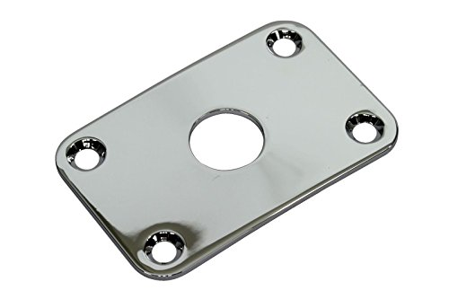 Curved Rectangular Metal Jack Plate Jackplate, Chrome plated brass (Curved Rectangular)