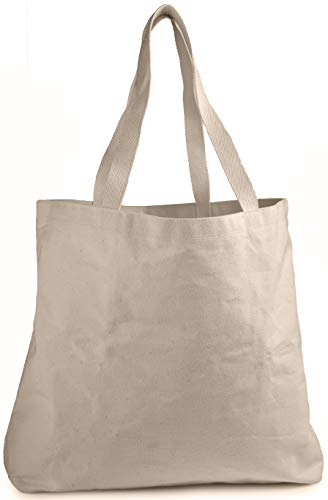 Reusable Shopper Tote - Reusable Grocery Canvas Bag - Durable Double Stitching with Two Sturdy Shoulder Straps to Handle Heavy Groceries. Canvas Tote Grocery Bags, an Eco-Friendly Solution for Grocery Shopping. (19