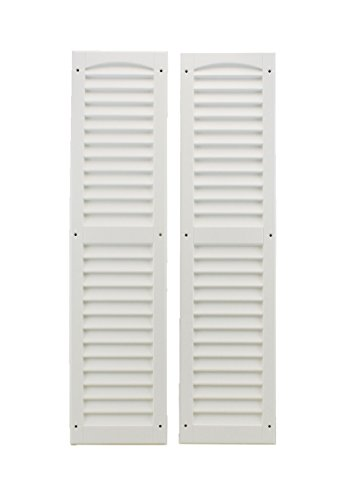 Louvered Shed Shutter or Playhouse Shutter White 9