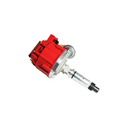 - A-Team Performance HEI Distributor 65K Volt Coil Compatible with Buick Nailhead V8 264 322 364 401 425 One Wire Installation Red Cap