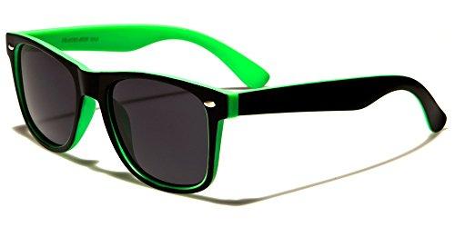 Retro Rewind Classic Polarized Wayfarer Sunglasses Black Green w Soft - Green Sunglasses Black And