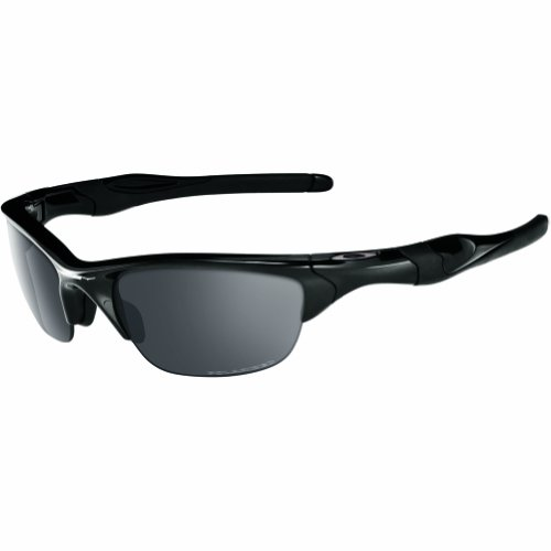 Oakley Men's OO9144 Half Jacket 2.0 Rectangular Sunglasses, Polished Black/Black Iridium Polarized, 62 mm from Oakley