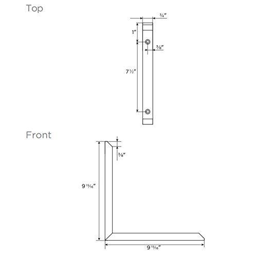 MAYKKE Morrison 10'' Shelf Bracket (Set of 2) Modern Stainless Steel Wall Mount Metal Ledge Hardware for Heavy Duty Storage, Brace Support 2 Sizes, 3 Colors Brushed Stainless Steel, OYA1110202 by Maykke (Image #4)