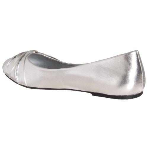 Metallic Lasonia Knot Flats Round Silver M1201 Womens detail Ballet toe qqPazAx