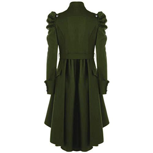 Trench Hiver Sanfashion Vert manteau Palais Femme Trenceh Vêtements Col Vintage Haut Coat Élégant Chic Slim BwwqdU