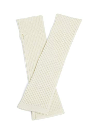 Arm Cashmere - State Cashmere Women's 100% Cashmere Knit Long Fingerless Arm Warmers Mitten Gloves 13