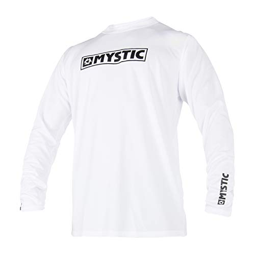 Mystic Star Long Sleeve Loosefit Quick Dry Rash Vest White 180106 Size - ()