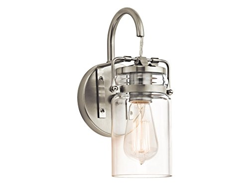 Kichler 45576NI One Light Wall Sconce 1 Transitional Bathroom Light