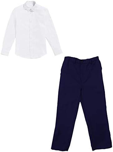 Basic Set: pantalón de niño con Camisa Blanca - Conjunto de Traje