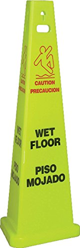 National Marker Corp. TFS301 Wet Floor Bilingual Trivu 3-Sided Safety Cone