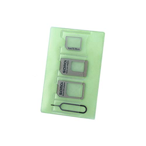 Samdi Sim Card Adapter Kit Includs Nano Sim Adapter/Micro Sim Adapter/Needle/Storage Sheet(Sim Card Holder),Easy to Use and Storage Without Losing Them