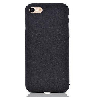Fundas y estuches para teléfonos móviles, Para el iphone 7 7 más la superficie de la felpa el color sólido embotado pulen la caja material del teléfono de la PC 6 más 6 se 5 ( Color : Rojo oscuro , Mo Rojo