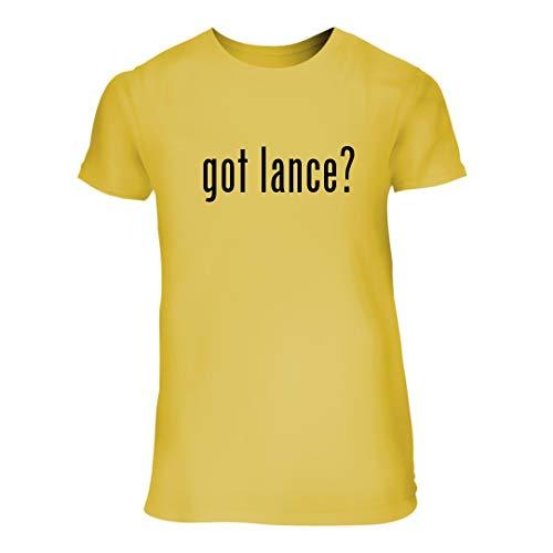 got Lance? - A Nice Junior Cut Women's Short Sleeve T-Shirt, Yellow, Large