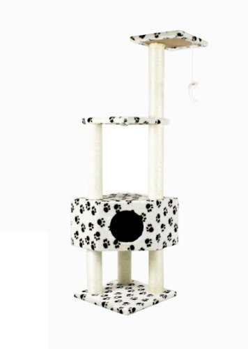 52″ CAT TREE CONDO FURNITURE SCRATCHPOST PET HOUSE 67Paw, My Pet Supplies
