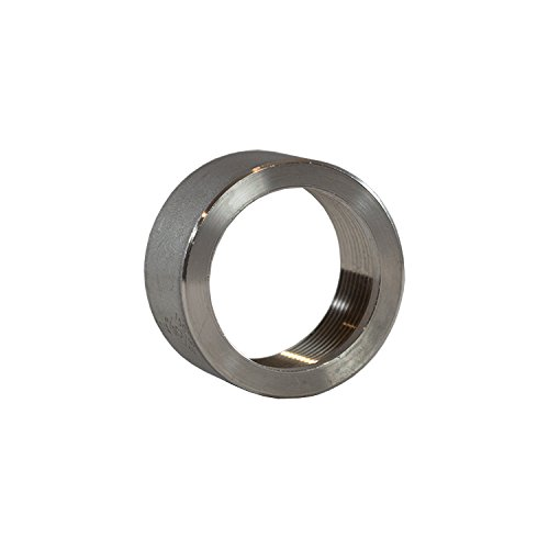 1.25'' 1 1/4'' in Inch NPT 316 Stainless Steel Threaded Half Coupling Weld On Pipe Tube Bung Fitting SS for Home Brewing, Automotive, Industrial, Aerospace