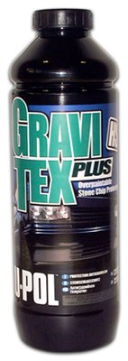 U-POL Gravitex Plus HS Stone Chip Protector 1 Liter Bottle Gray by U-Pol