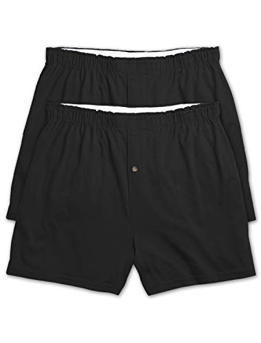 (Harbor Bay by DXL Big and Tall 3-Pack Solid Knit Boxers (2XL, Black))