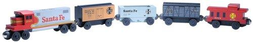 Santa Fe Flat Car (Santa Fe Warbonnet 5-Car Wooden Toy Train Set by Whittle Shortline Railroad)