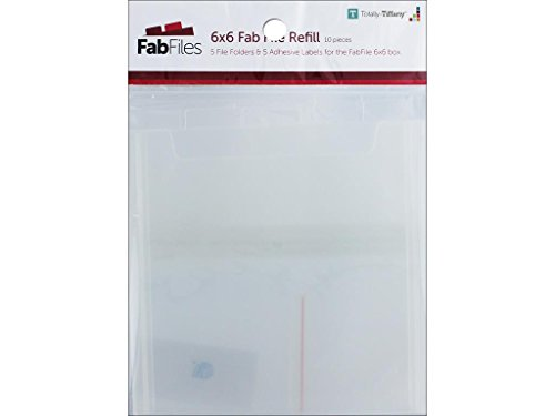 """Totally-Tiffany TTY00653 Fab File Refill Pocket, 6"""" by 6"""""""