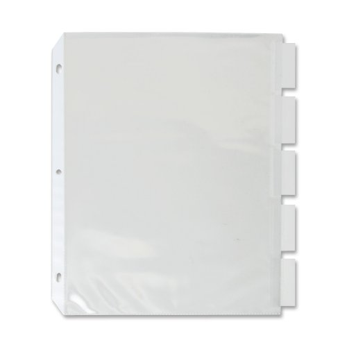 - Sparco Top Load Sheet Protectors, with Index Tabs, 5-Tab, 11 x 8-1/2 Inches, CL (SPR74160)