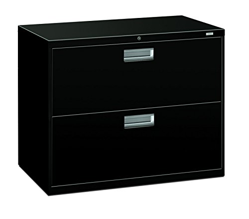 HON 2-Drawer Filing Cabinet - 600 Series Lateral Legal or Letter File Cabinet, Black (Hon 2 Drawer Filing Cabinet)