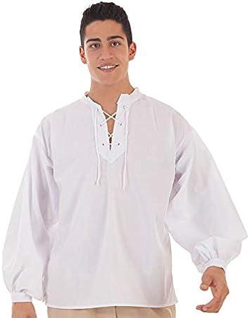 Creaciones Llopis Camisa Medieval Blanca para Hombre: Amazon.es: Juguetes y juegos