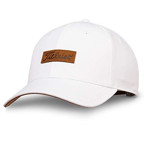 - Titleist Men and Women's Golf Caps (Charleston, White/Brown)