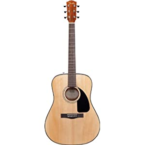 Fender DG-8S Solid Spruce Top Dreadnought Acoustic Guitar Pack with Gig Bag, Tuner, Strings, Picks, Strap, and Instructional DVD – Natural