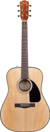 Fender DG-8S Solid Spruce Top Dreadnought Acoustic Guitar Pack with Gig Bag, Tuner, Strings, Picks, Strap, and Instructional DVD  - Natural ()