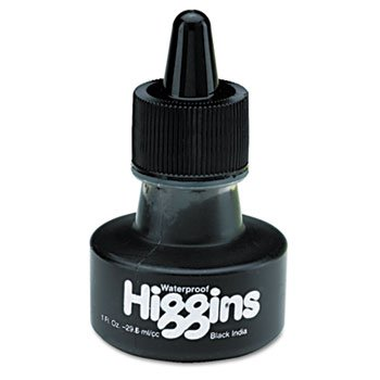 Higgins Waterproof Black India Ink 1 - Black 011 My