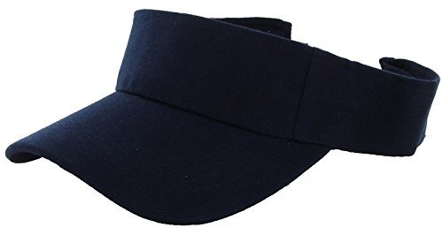 LA Gen Sales Plain Men Women Sport Outdoor Sun Visor Adjustable Cap (Navy) (Navy Adjustable Visor)