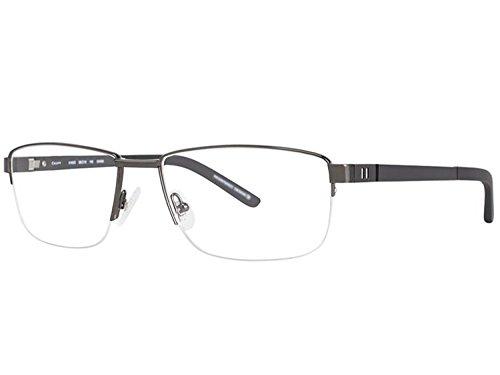 OGA MOREL Eyeglasses France aluminium 8183 8183O (shiny gunmetal matte black, one color)