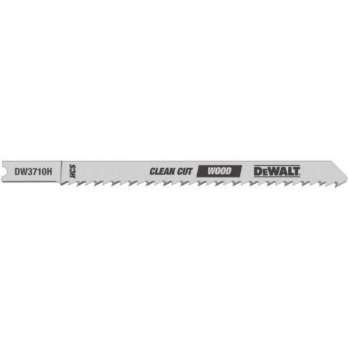 10 Wood Tpi U-shank 4 - DEWALT DW3710-5 4-Inch 10 TPI Fine Finish Wood Cut Cobalt Steel U-Shank Jig Saw Blade (5-Pack)