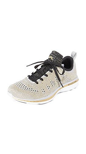 APL: Athletic Propulsion Labs Women's TechLoom Pro Sneakers, Silver/Gold/Black, 5.5 B(M) US