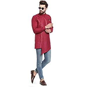 ABH LIFESTYLE Men's Cotton Asymmetric Short Kurta