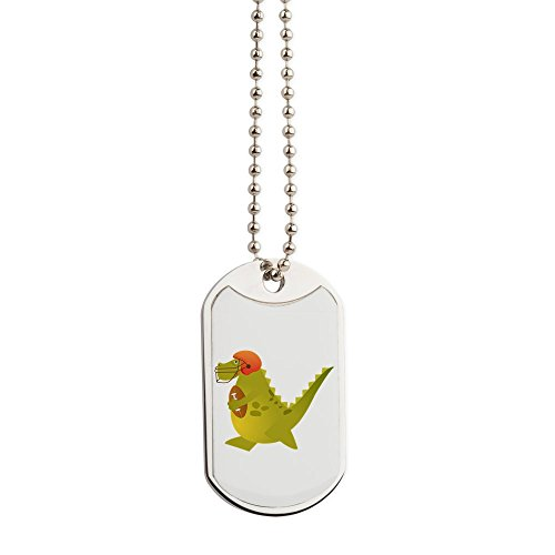 Dog Tags Football Playing Dinosaur