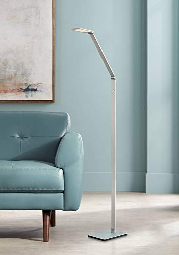 Bentley Modern Task Floor Lamp LED Silver Aluminum Adjustable Touch On Off for Living Room Reading Bedroom Office - Possini Euro -