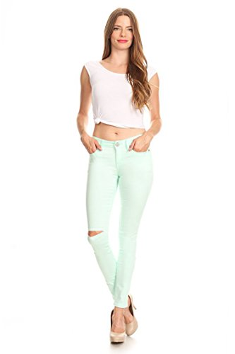 mint colored jeans - 8