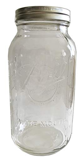 Ball Mason Jar-64 oz. Clear Glass Wide Mouth Ball Half Gallon (Pack of single) ()