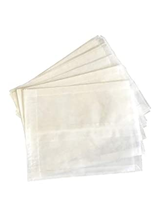 Amazon.com: 100 Plain Wet Wax Sandwich Bolsas 6 x 1 x 7 ...
