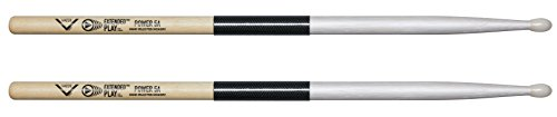 Vater Power 5A Extended Play Nylon Tip Drum Sticks, Pair