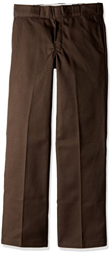 Dickies Men's Big and Tall Original 874 Work Pant, Dark Brown, 36W x 36L