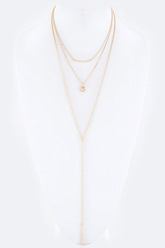 Trendy Fashion Jewelry Metal Owl Mix Layer Necklace Set By Fashion Destination | (Gold)