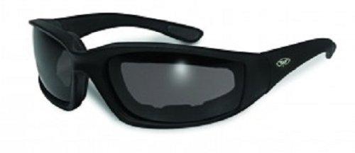 Global Vision Eyewear Kickback Sunglasses with EVA Foam, Smoke Tint - Foam Sunglasses Lined