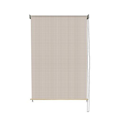 4' Lowering Blocks (Sunlax 4' x 6' Exterior Sun Roller Shade UV Block Window Blinds in Color Sesame)