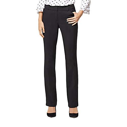 New York & Co. Women's Petite Straight-Leg Pant - All-Season Stretch - 0 Black ()