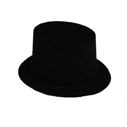 (Black Velour Top Hat Roaring 20s Magic Showgirl Costume Accessory )