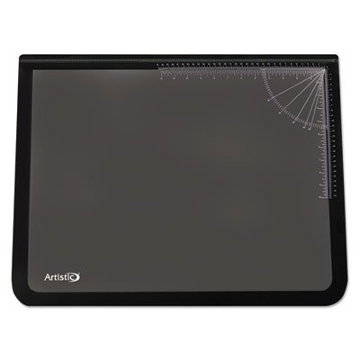 - Logo Pad Desktop Organizer with Clear Overlay, 22 x 17, Black