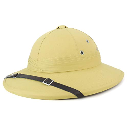 (Armycrew French Style Pith Helmet Safari Hat - Khaki)